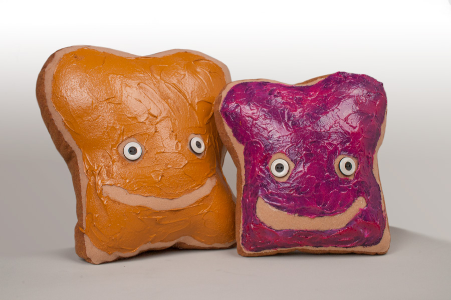 Peanut Butter and Jelly custom plush