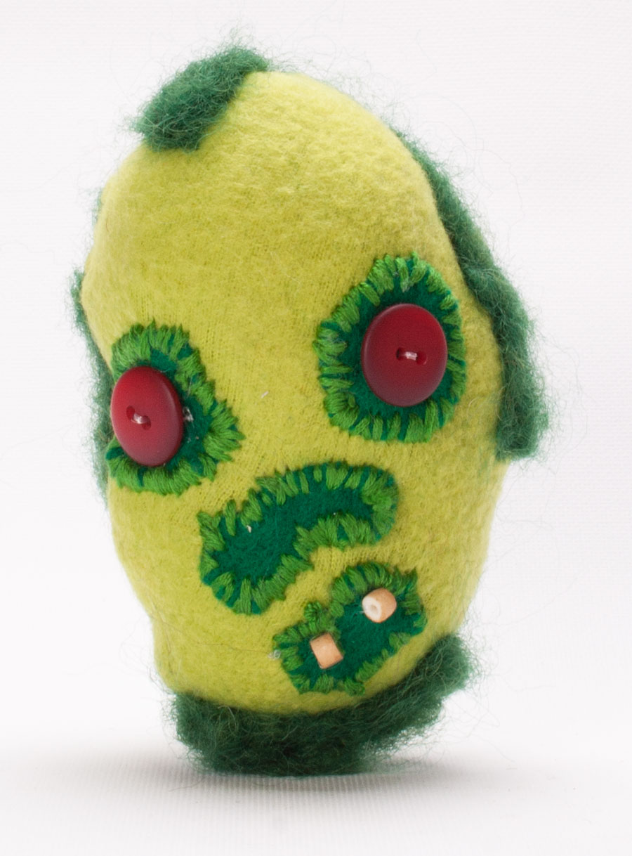 Zombie bean custom plush named Tate