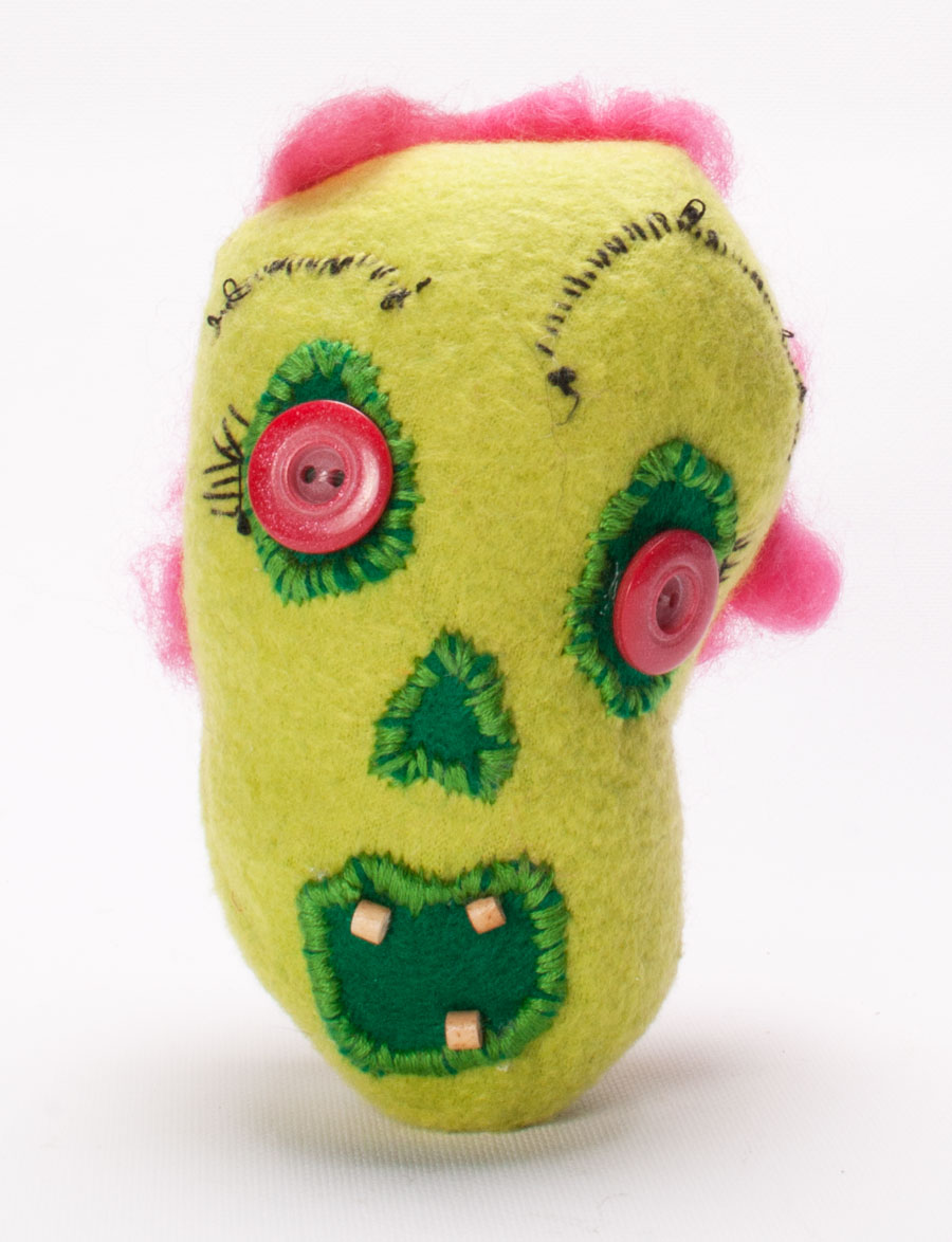 Zombie bean custom plush Thelma